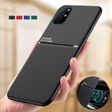 Bakeey for OnePlus 8T Case Magnetic Leather Texture Non-Slip TPU Shockproof Protective Case Back Cover
