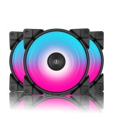 Pccooler 3 HALO RGB Fan 12cm 12V 4Pin FRGB PWM Quiet Cooling Fans 120mm RGB Fan For CPU Cooler Liquid Cooling