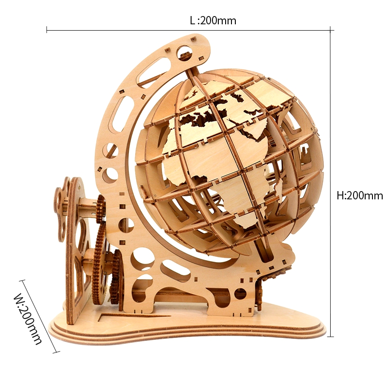3D Puzzle DIY Mechanical Drive Model Kit Transmission Gear Rotate Constructor Figure Assembling Puzzles Home Office Decoration Toys