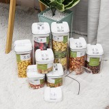 Airtight Food Storage Containers Square Nine-piece Easy-to-buckle Cans Kitchen Household Whole Grains Milk Powder Preservation Storage Tank