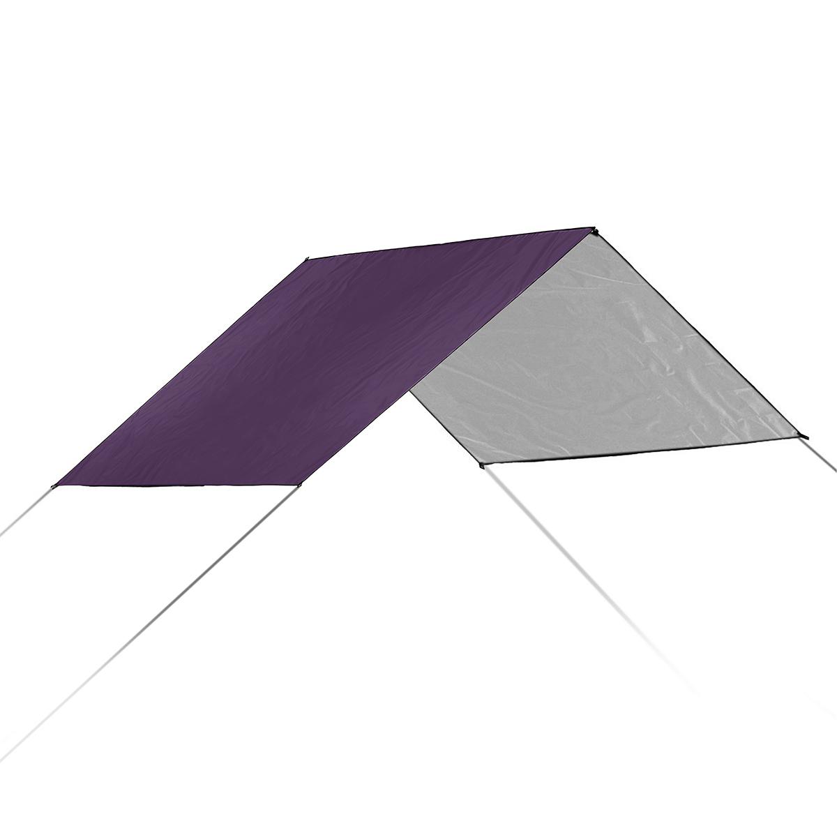 3x3m Multifunction Anit-UV Tent Tarp Rain Sun Shade Awning Shelter Hammock Picnic Mat for Camping Hiking Travel