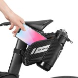 ROCKBROS 1.5L Bicycle Tail Bag Water Repellent Reflective Bike Bag For MTB Road Bike With Water Bottle Pocket Cycling Accessories
