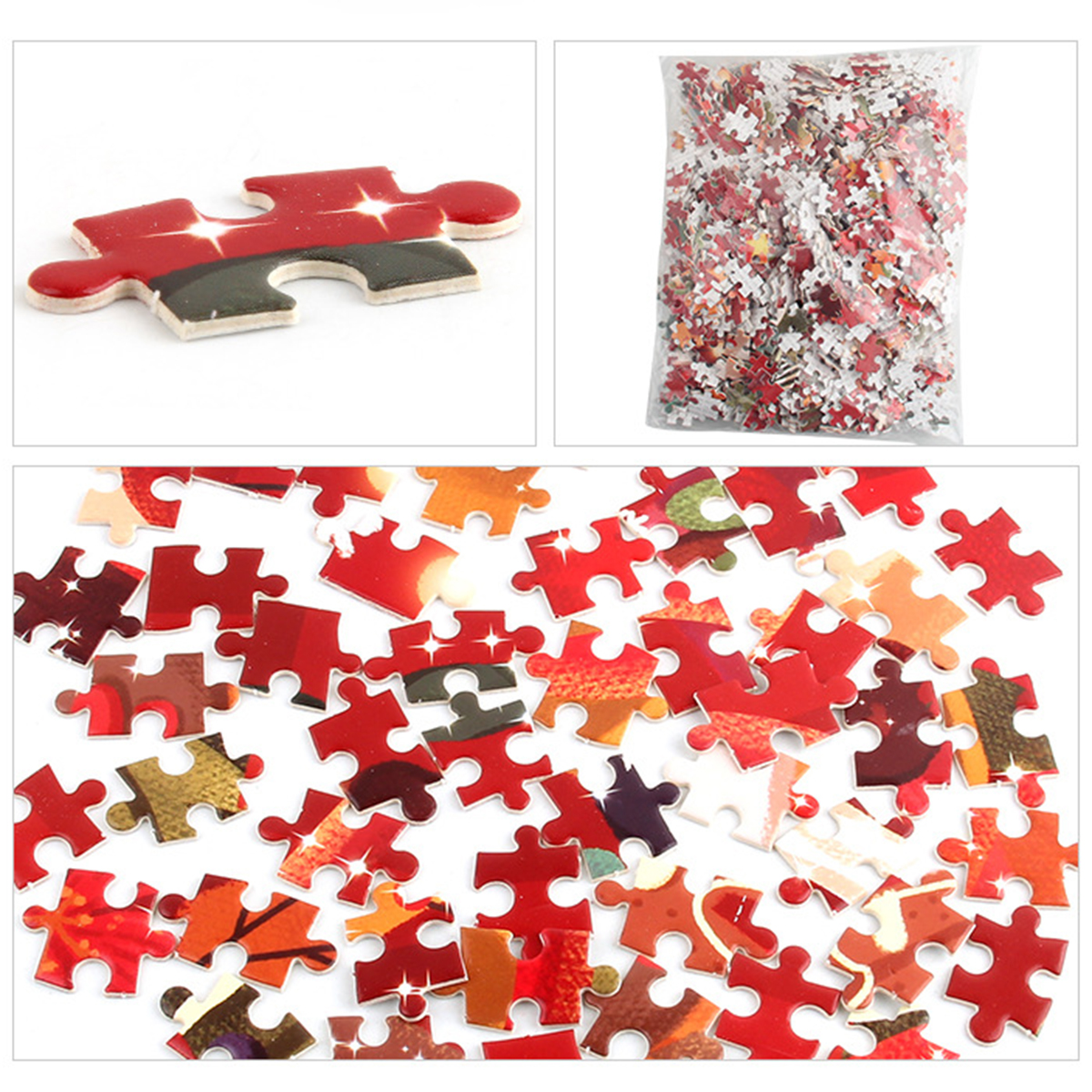1000Pcs Christmas Santa Snowman Elk Jigsaw Puzzle Children Adult Jigsaw Toy for Child Christmas Gift