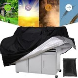 210D Oxford Cloth BBQ Cover Rain UV Proof Canopy Dust Protector BBQ Grill Cover Camping Picnic