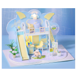 Iie Create P004 DIY Wooden Doll House Handmade Model Assembled Doll House With Furniture Toys