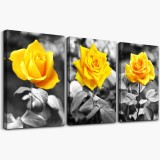 3Pcs/set Rose Canvas Painting Wall Decorative Print Art Pictures Unframed Wall Hanging Home Office Wall Decorations