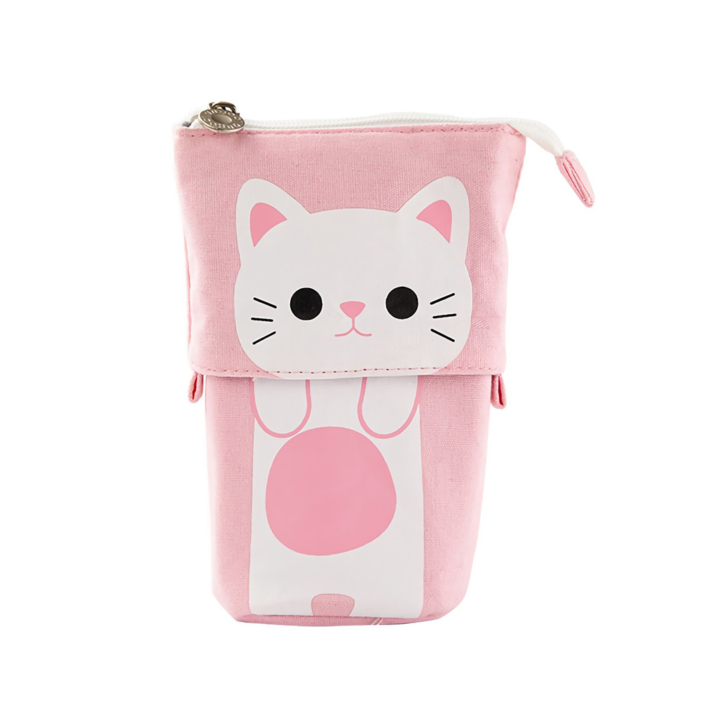 Pen Pencil Case Multifunctional Pen Holder Variable Drop Down Canvas Pencil Bag Stationery Students Supplies