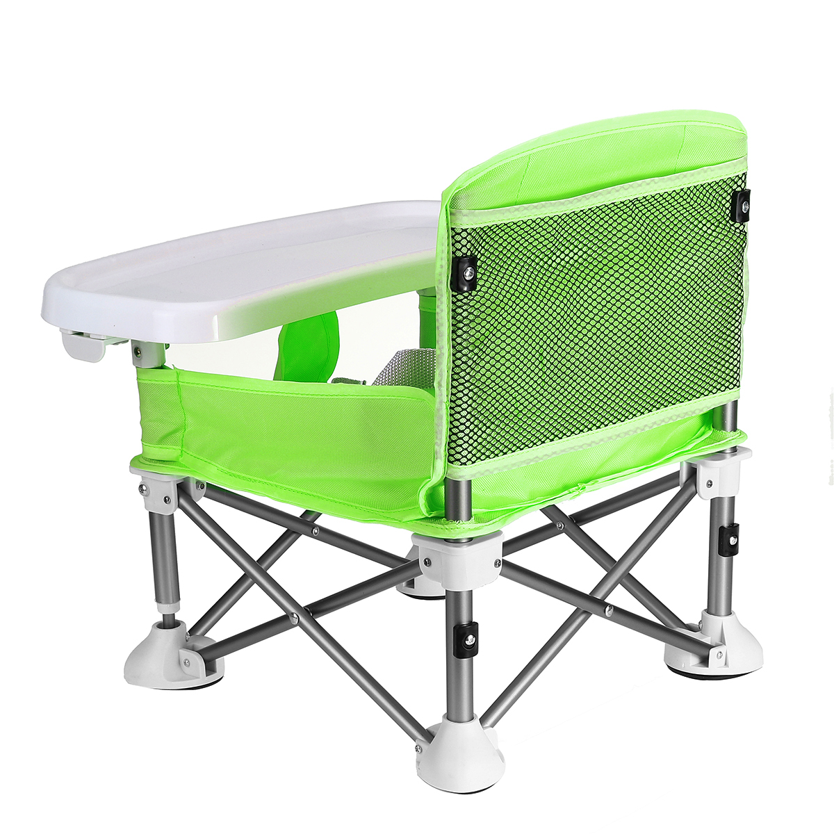 Baby's Foldable Eating Table Multi-function Aluminium Alloy Portable Dining Seats for Outdoor Outings Home Supplies