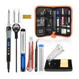 Handskit Digital Soldering Iron kit Electric Soldering Iron Desoldering Pump Soldering Tools with On-Offf Switch