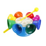 SY-66 Orff Instrument Eight Tone Rotating Bell Melody Bell Touch Bell Musical Instrument with Knocking Stick