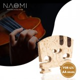 NAOMI 1PC Master AA Grade Snow Flake Texture Maple Violin Bridge 4/4 Violin Bridge Replacement With E A Ebony Inlay