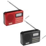 KK-62 Portable Retro Radio LED Display Speaker MP3 Player FM Radio TF Card U Disk AUX Mini Radio Speaker