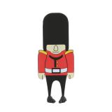 Creative Bookmark England Soldier Bigfoot Bookmark Stationery Cartoon Student Supplies