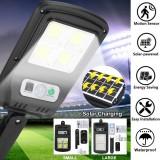 LED Solar Street Wall Light PIR Motion Sensor Outdoor Garden Waterproof COB Lamp with Remote Control