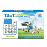 13 in 1 DIY Solar Robot Kit Solar Toys Self-assembled Science Solar Robot Puzzle Toy Children Educational Supplies