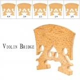 NAOMI 1PC Standard Maple Bridge 4/4 3/4 1/2 1/4 1/8 Violin Bridge Classical Baroque Style Bridge