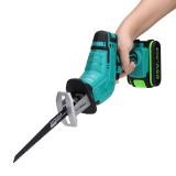 21V Cordless Reciprocating Saw Chainsaw W/ 4 Saw Blades Metal Cutting Woodworking