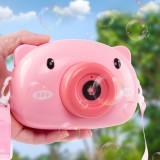 Automatic Cartoon Pig Camera Baby Bubble Machine Outdoor Automatic Maker Bubble Gifts for Kids and Girls
