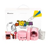 Tenwin 8087 3pcs/set Electric Pencil Sharpener Stationery Set Mini Vacuum Cleaner Electric Eraser Cartoon Kids Learning Kit Box Boy Girls