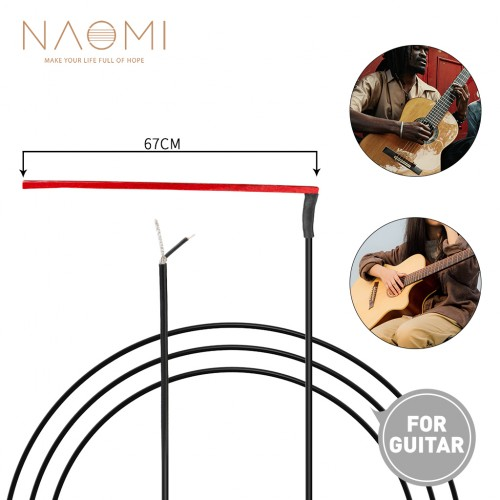 NAOMI 10pcs Ultrathin Red Guitar Soft Piezo Under-Saddle Passive Piezo Film Pickup Without Plug For Acoustic /Classical Guitar