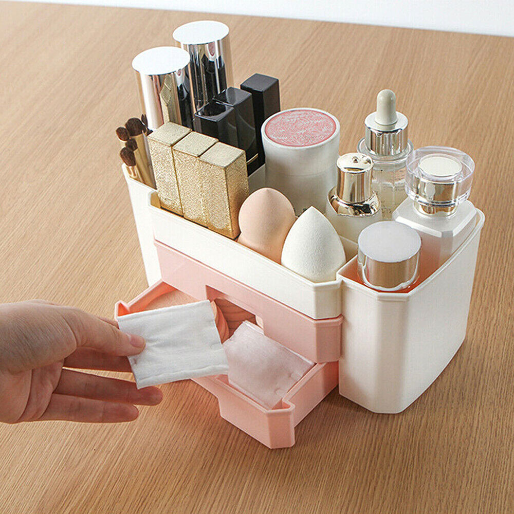 Cosmetic Storage Box Simple Desktop Makeup Organizer Drawer Case Brush Holder Lipstick Jewelry Container Storage Box