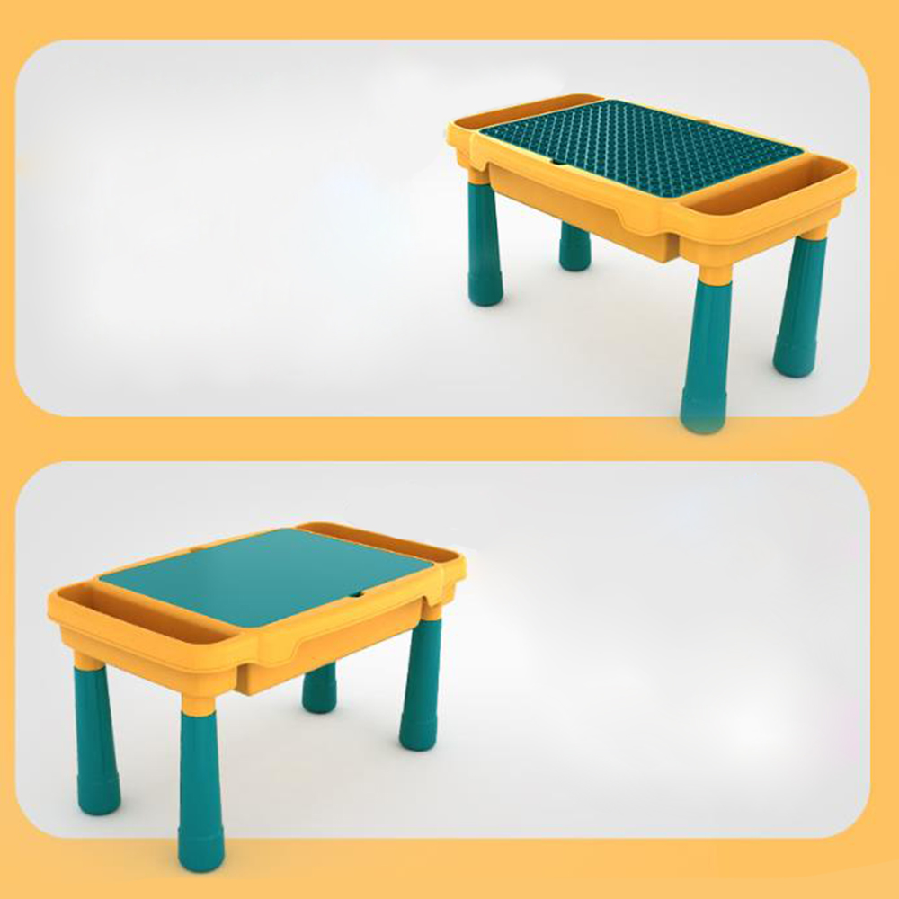 Multi-functional Compatible with Building Block Learning Table for Children Education Toys