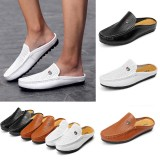 Men's Slip On Casual Canvas Skate Trainers Shoes Outdoor Leisure Walking Sneakers Loafers Shoes