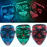 Halloween Party Masks Glow LED Masks Light Up for Festival Cosplay Costume Funny Election DJ Party Decor Horror Rave Mask