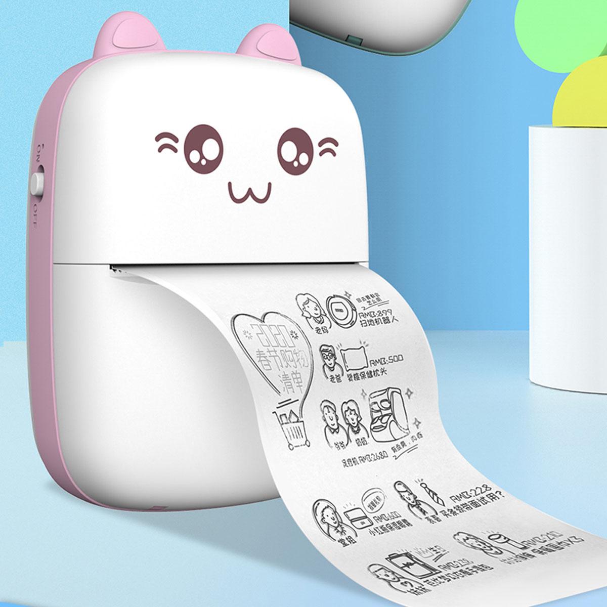 PeriPage Thermal Printer Photo Webpage Printer Pocket Paper Thermal Printer USB Charging Portable Printer for Mobile Phone