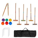 Outdoor Game Sport Gate Ball Croguet Set for 6 Players luxury children's Sports Toy Croquet Doorball Set with Bag