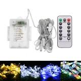 Battery Powered 104LED Umbrella String Light 8 Modes Garden Patio Parasol Fairy Lamp Party Decor