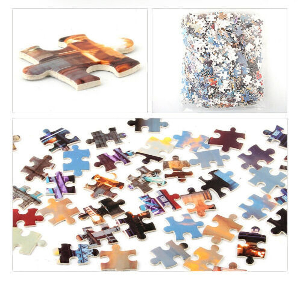 1000 Pcs Jigsaw Puzzle DIY Landscape Jigsaw Puzzle Toy Home Decorations Educational Games Toys Gifts for Adults Children Kids