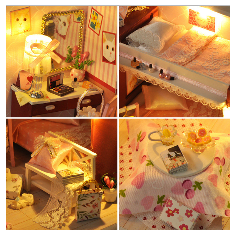 TIANYU DIY Doll House TW34 Reproduction Youth Series Handmade Model Wooden Creative Educational Toy Gift