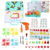 399PCS 3D Creative Electric Drill Toys Set Drilling Screw Puzzle Toy Kid Gift