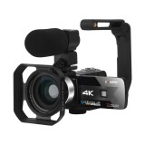 KOMERY K1 56MP 16X Zoom 4K Video Camera Camcorder for Youtube Live Stream Broadcast IR Night Vision HD DV Video Recorder Digital Camera WiFi APP Control 5-axis Image Stabilization Anti-shake With Microphone Stabilizer Handle
