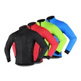 ARSUXEO Winter Warm Jackets Windproof Waterproof High Collar Polar Fleece Men Casual Coats Outdoor Cycling Climbing