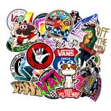 100PCS Skateboard Graffiti Stickers Waterproof For Suitcase Car Refrigerator Motorcycle Decoration