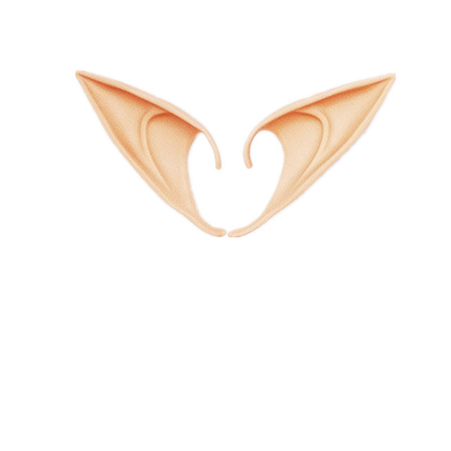 Halloween Costume Elf Ears Fairy Halloween Christmas Party Cosplay Accessories Latex Soft Pointed Tips False Ears Props