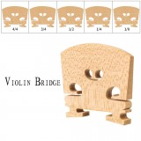 NAOMI Maple Wood Bridge French Style Violin Bridge 4/4 3/4 1/2 1/4 1/8 Size Violin Parts Replacement