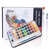 48 Colors Solid Watercolor Pigment Set Buy Solid Watercolor Paint Set Iron Box Drawing Set for Beginners Painting