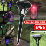 Solar Powered LED Ground Lawn Light Outdoor Garden Yard Waterproof Lamp Landscape Lighting Decoration