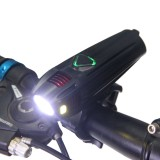 4-Modes 300 Lumens T6 LED Bicycle Front Light Waterproof USB Rechargeable Bike Headlight Night Cycling Lamp Riding Accessories