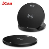 iCan New Qi 10W Folding Wireless Charger Stand Portable High Speed Wireless Charging Pad For iPhone 12 12Pro Huawei P40 Mate 40 Pro OnePlus 8Pro