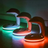 Bakeey LED Lamp Night Light USB Rechargeable Rainbow Dolphin Projector Romantic Atmosphere Home Party Decoration