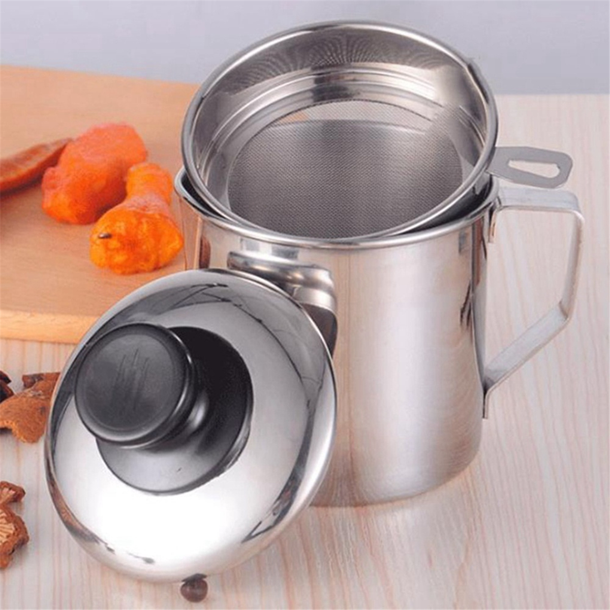 DEIE B4-053-YW Oiler Stainless Steel Oil Filter Separator Pot Kitchen Food Supplies Liquid