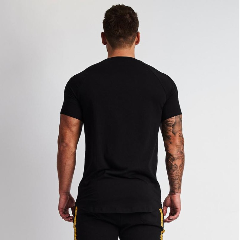 Summer Men's Sports Fitness T-shirt Men Short-sleeved Casual Quick-drying Clothes Running Sports Breathable Top