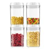 4pcs Clear Container Set Food Storage Box Grains Beans Storage Organizer Home Refrigerator Storage Box