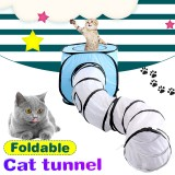 T-shaped Folding Cat Tunnel Cat Toys Collapsible Cat Tunnel Pet Supplies