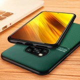 Bakeey for POCO X3 NFC Case Magnetic Leather Texture Non-Slip TPU Shockproof Protective Case Back Cover