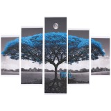 5Pcs Big Tree Canvas Paintings Wall Decorative Print Art Pictures Unframed Wall Hanging Home Office Decorations